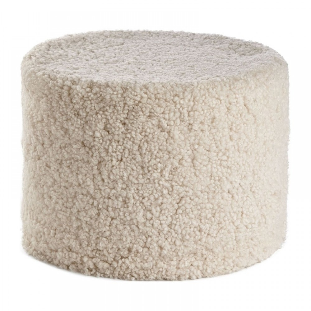 Natures Collection - Lammeskinds puf pearl