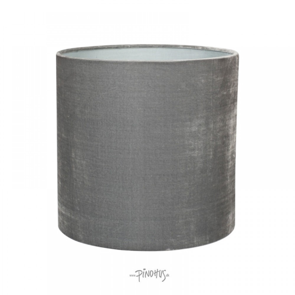 Silk Velour lampeskærm Mørk grå-31