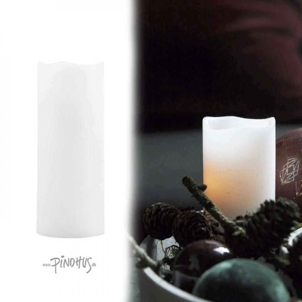 Hvide LED lys m/timer Ø5cm-31