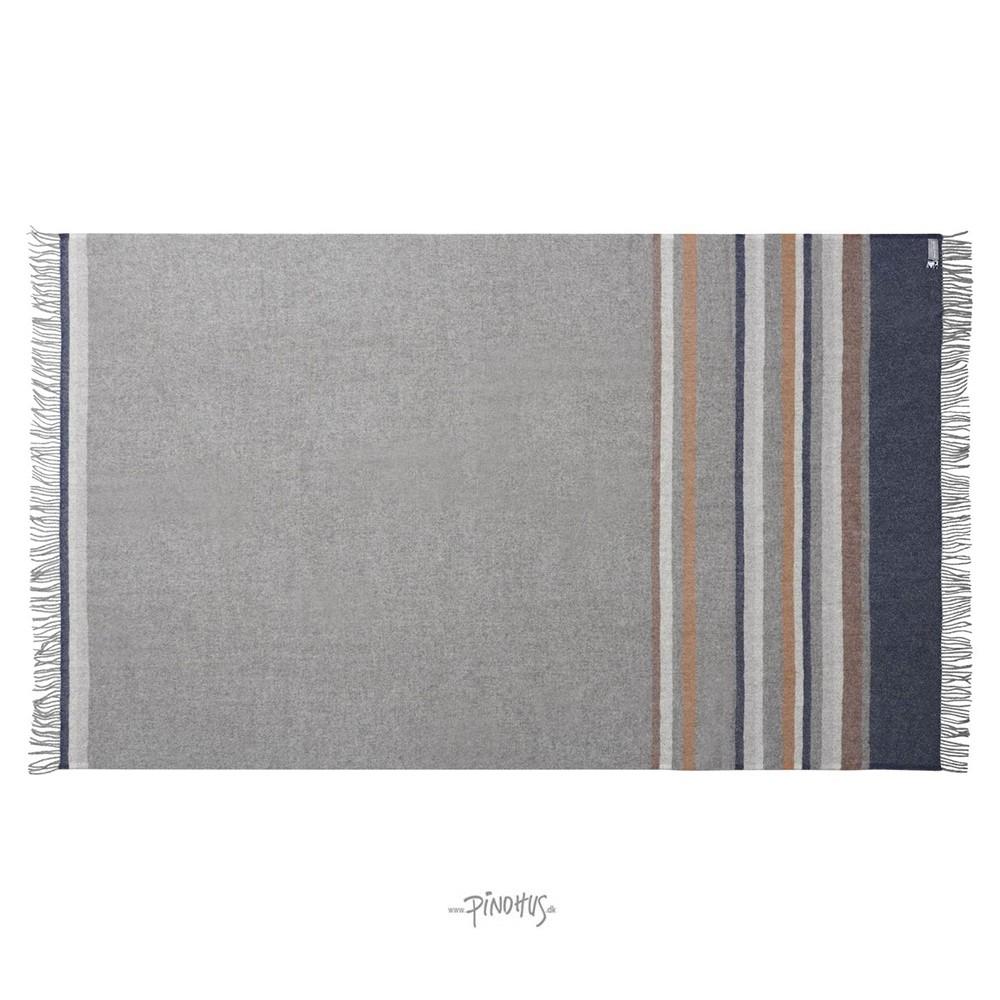 Uld Plaid Lyø Mørk grå 140x240cm-31
