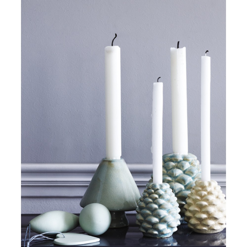 Lysestage keramik creme-30