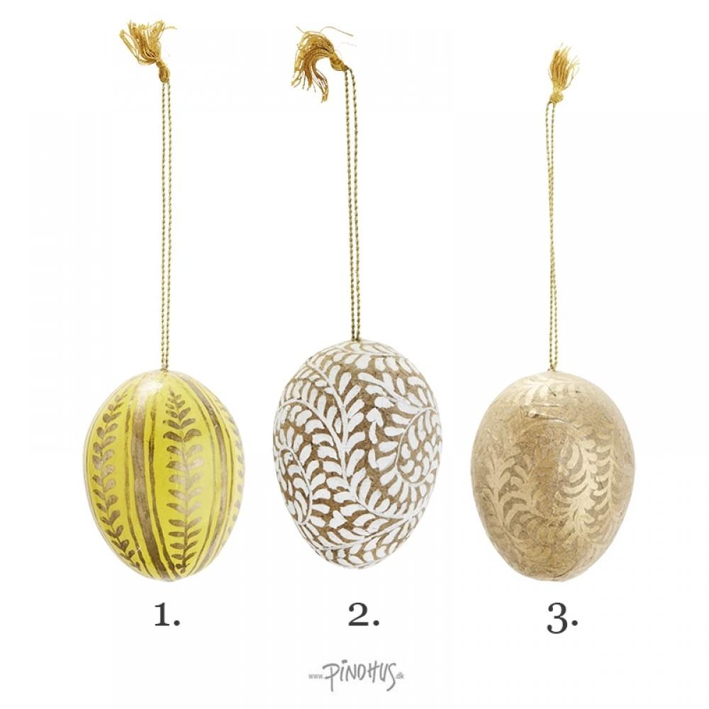Håndmalet papmache æg 7cm-31