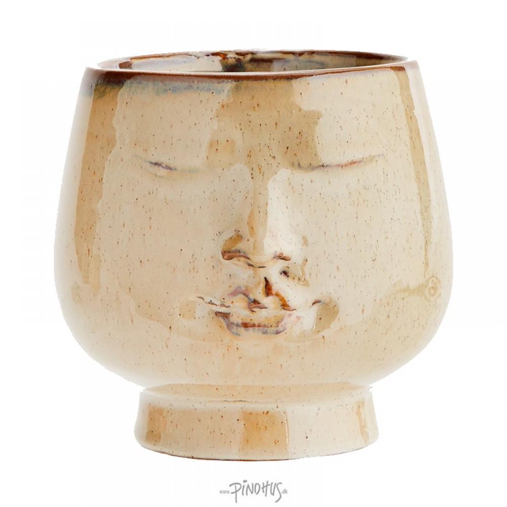 Urtepotte keramik face-33