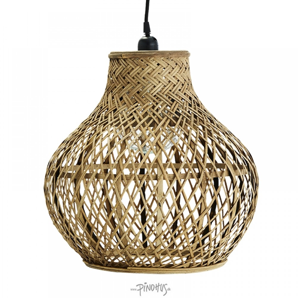 Flet Bambus Lampe Fra Madam Stoltz 699 Fragtfri Levering