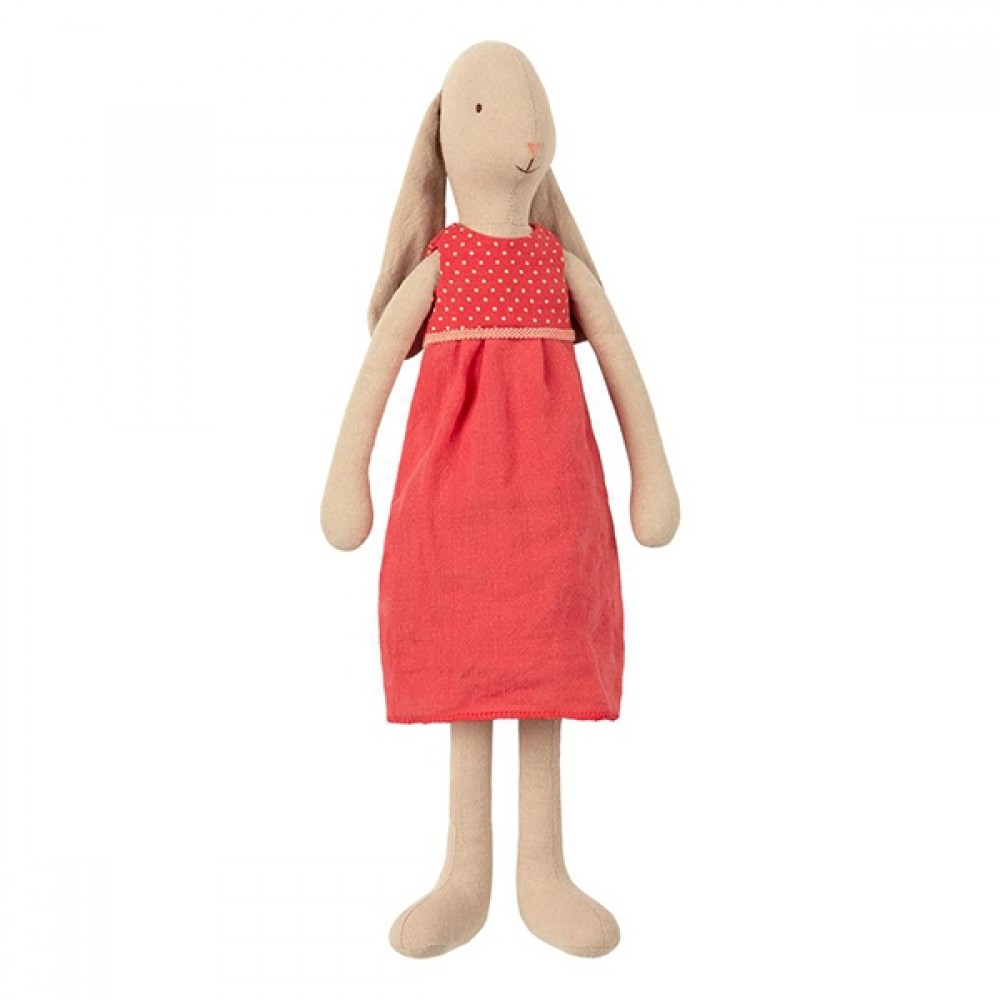 Maileg kanin Pige i rød kjole 42cm-31