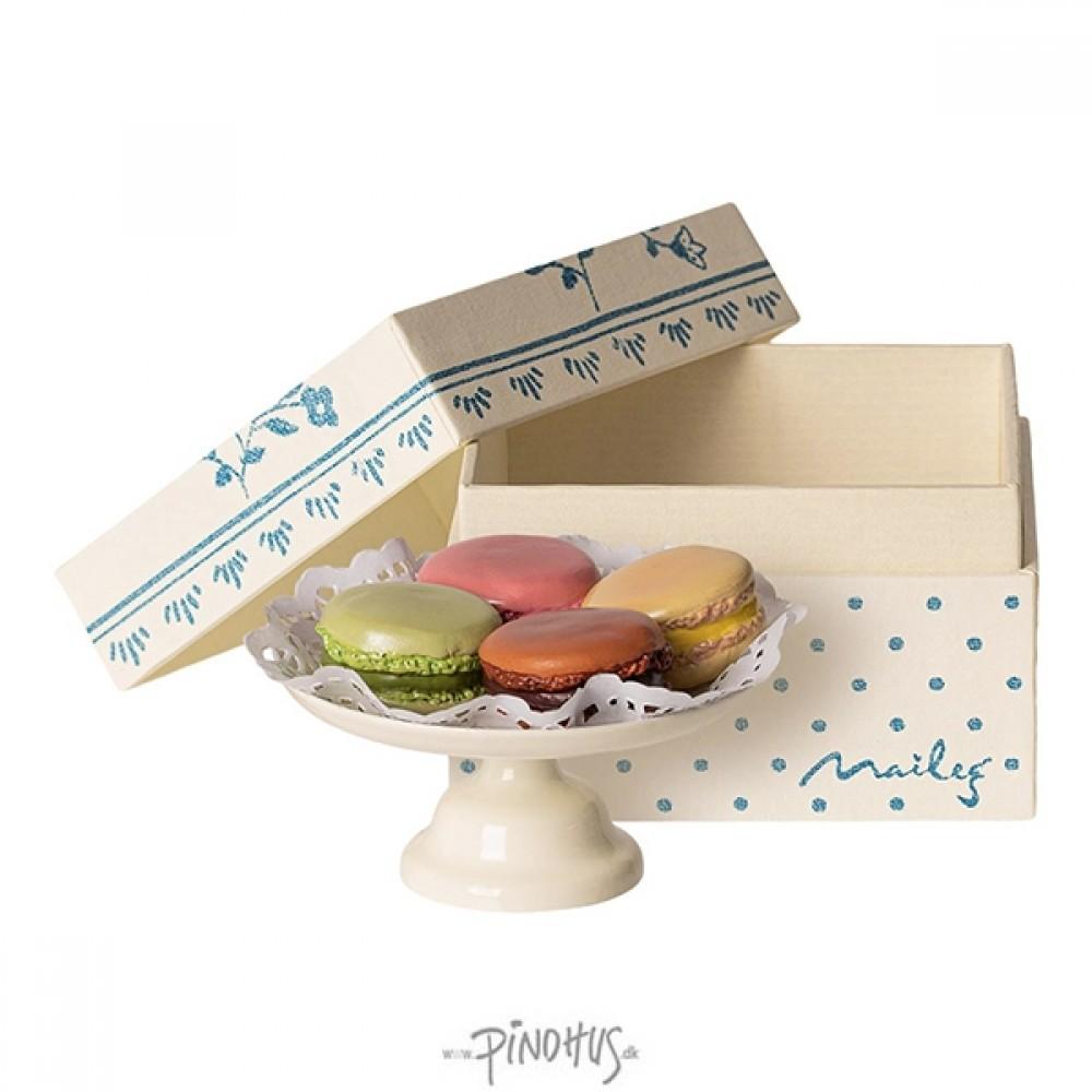 Maileg - Box m/Macarons & kagefad