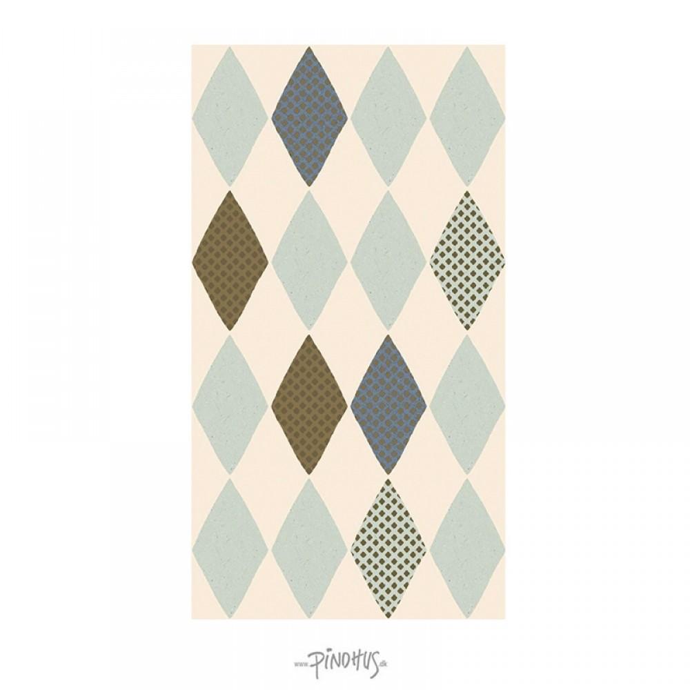Maileg - Harlekin servietter blå