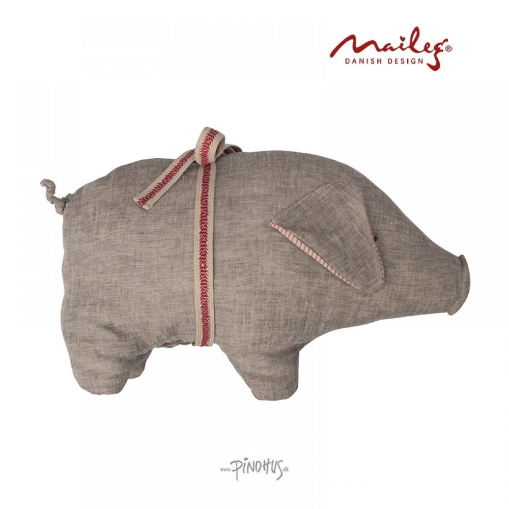 Maileg Hør gris grå 23cm-34