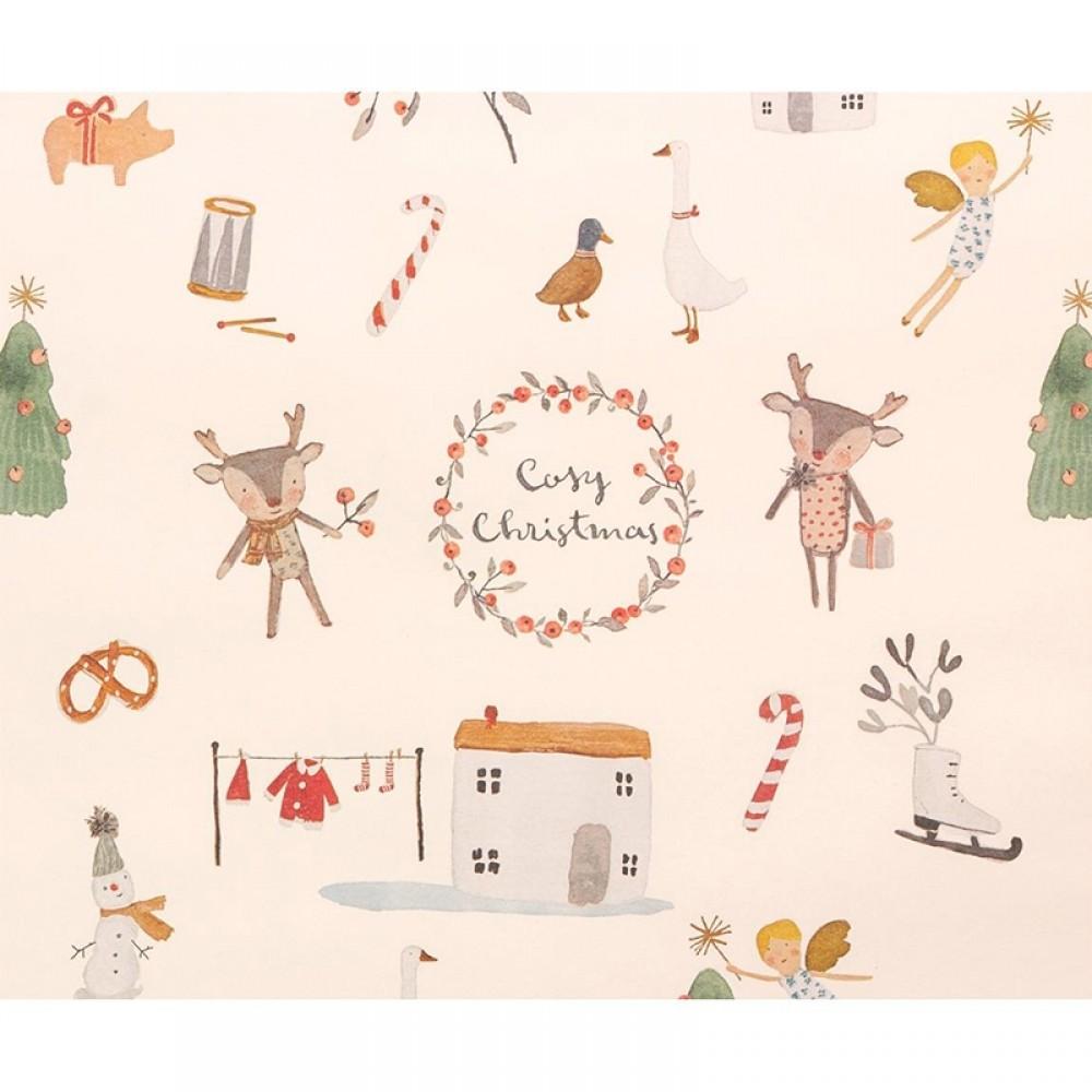 Maileg - Gavepapir creme Cosy Christmas