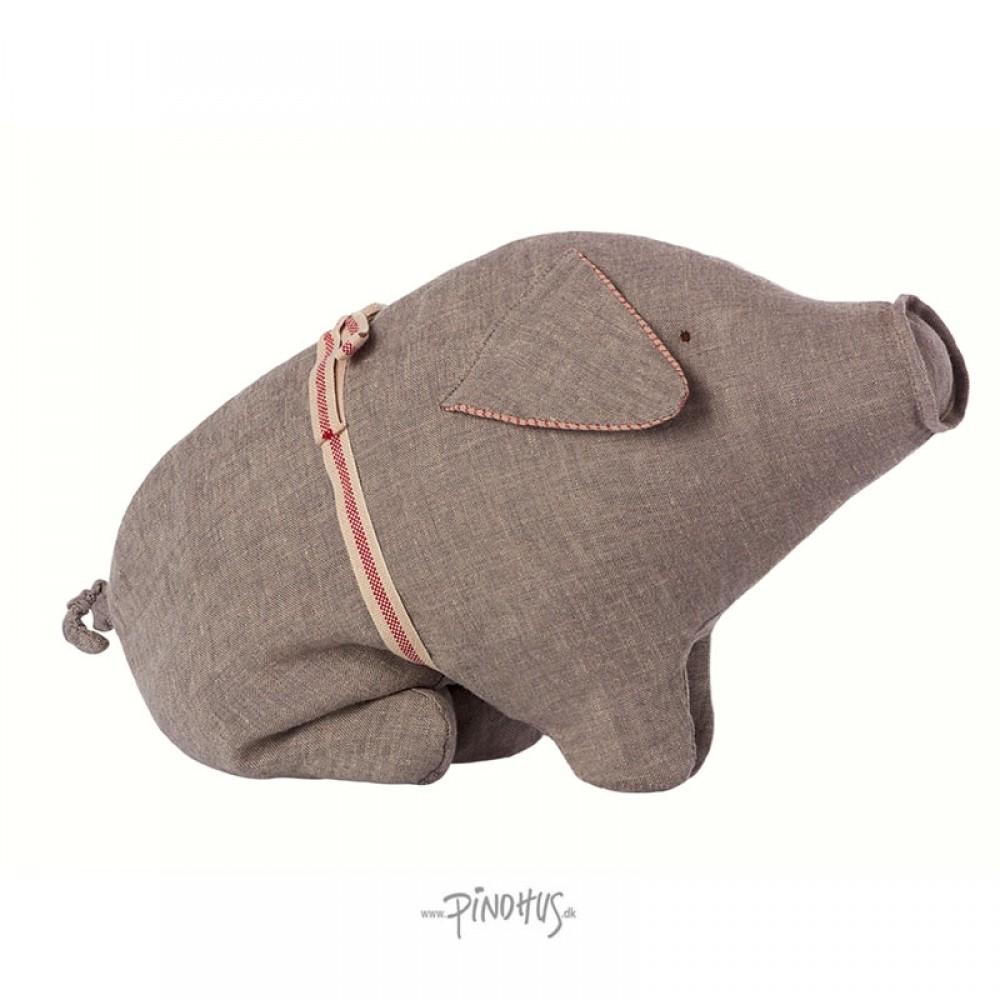Maileg Hør gris grå 23cm-31