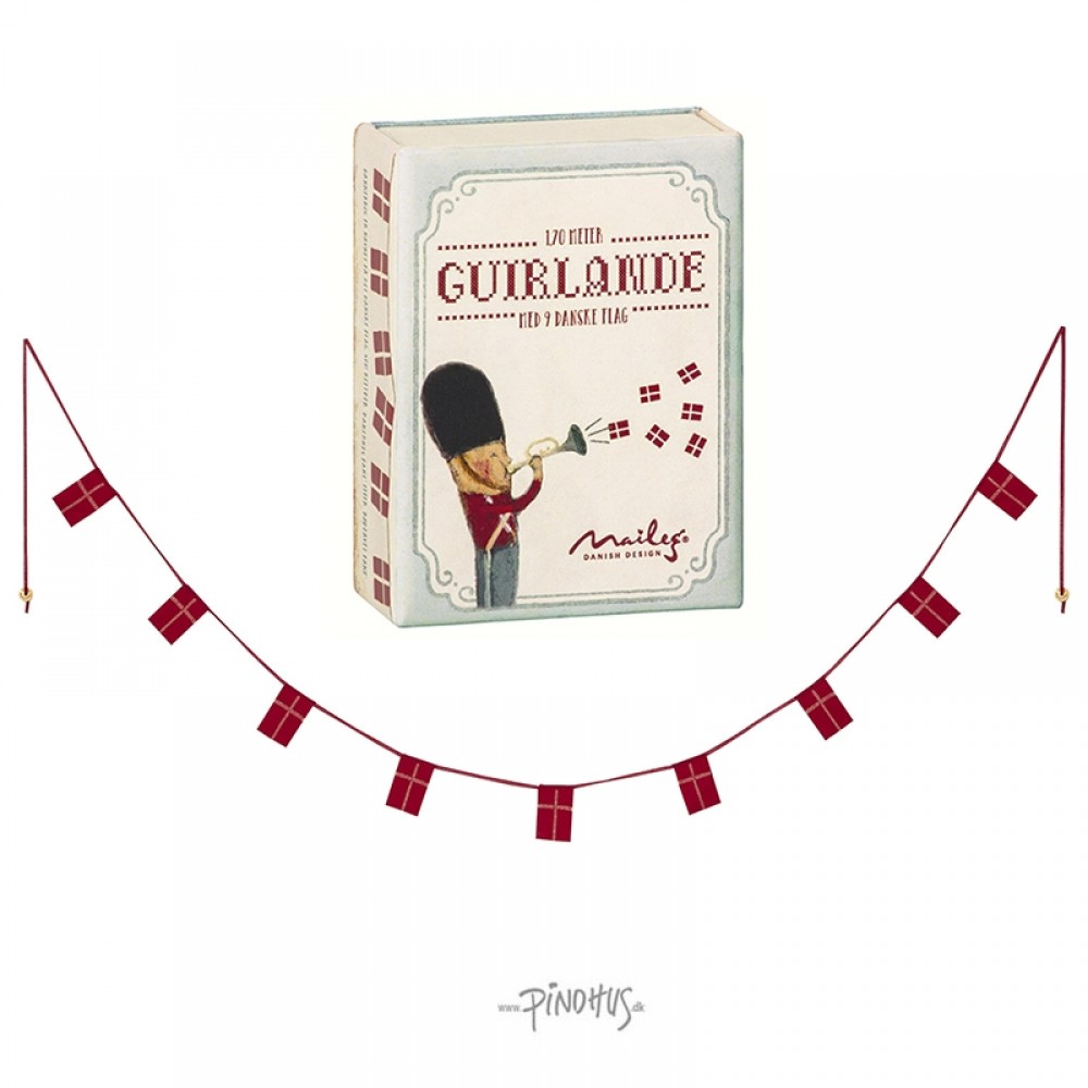 Maileg 2018 Guirlande m/ flag-32