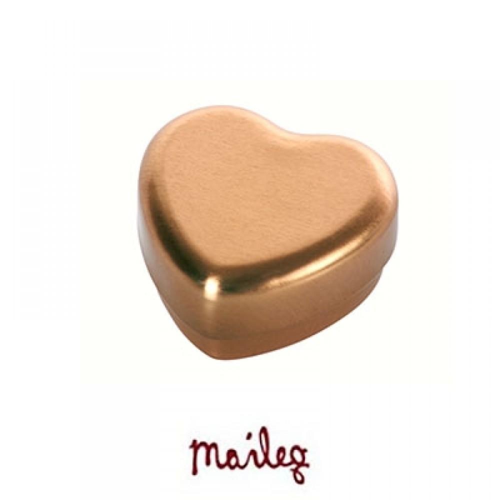 Maileg Hjerte æske i guld-31