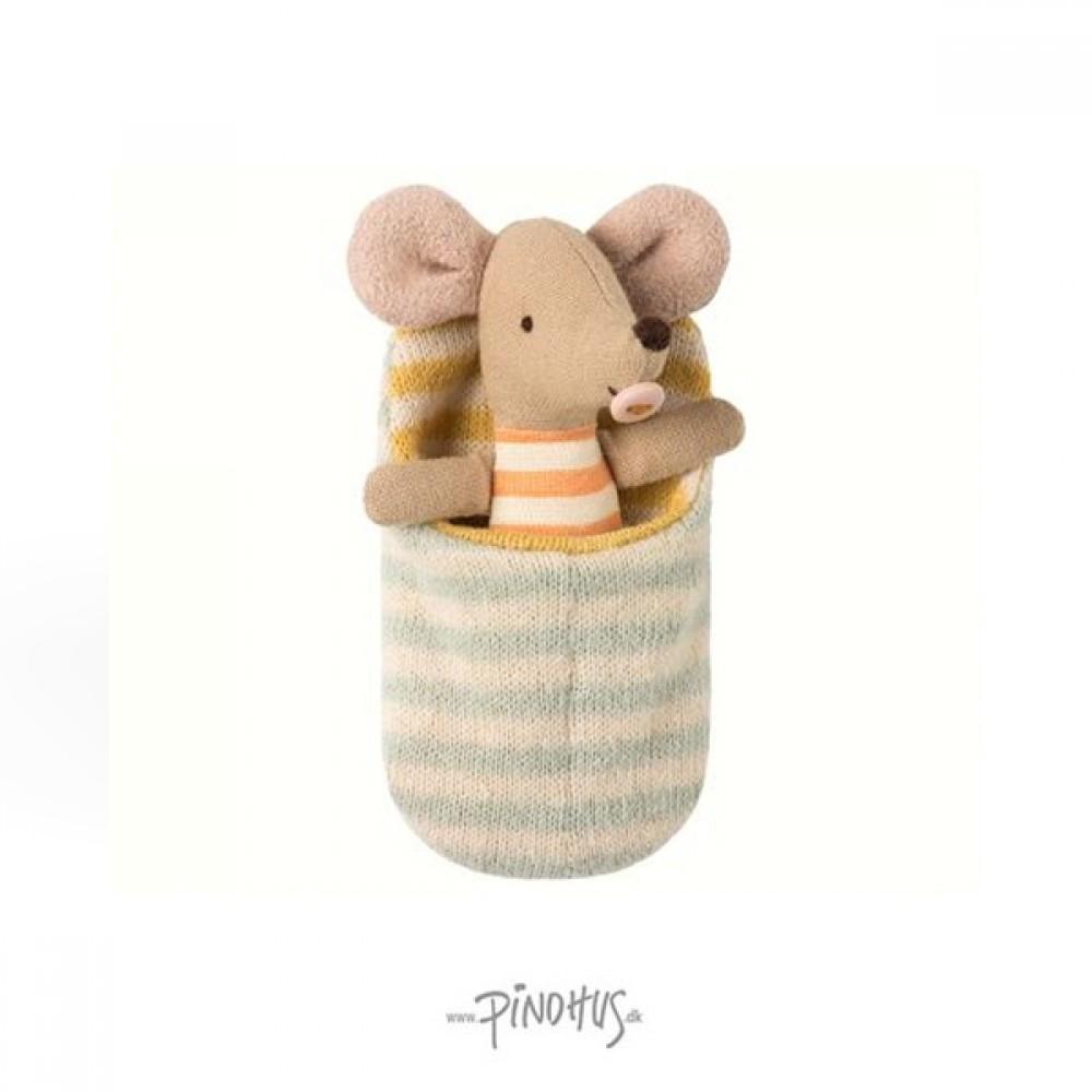 Maileg Baby mus i sovepose-31