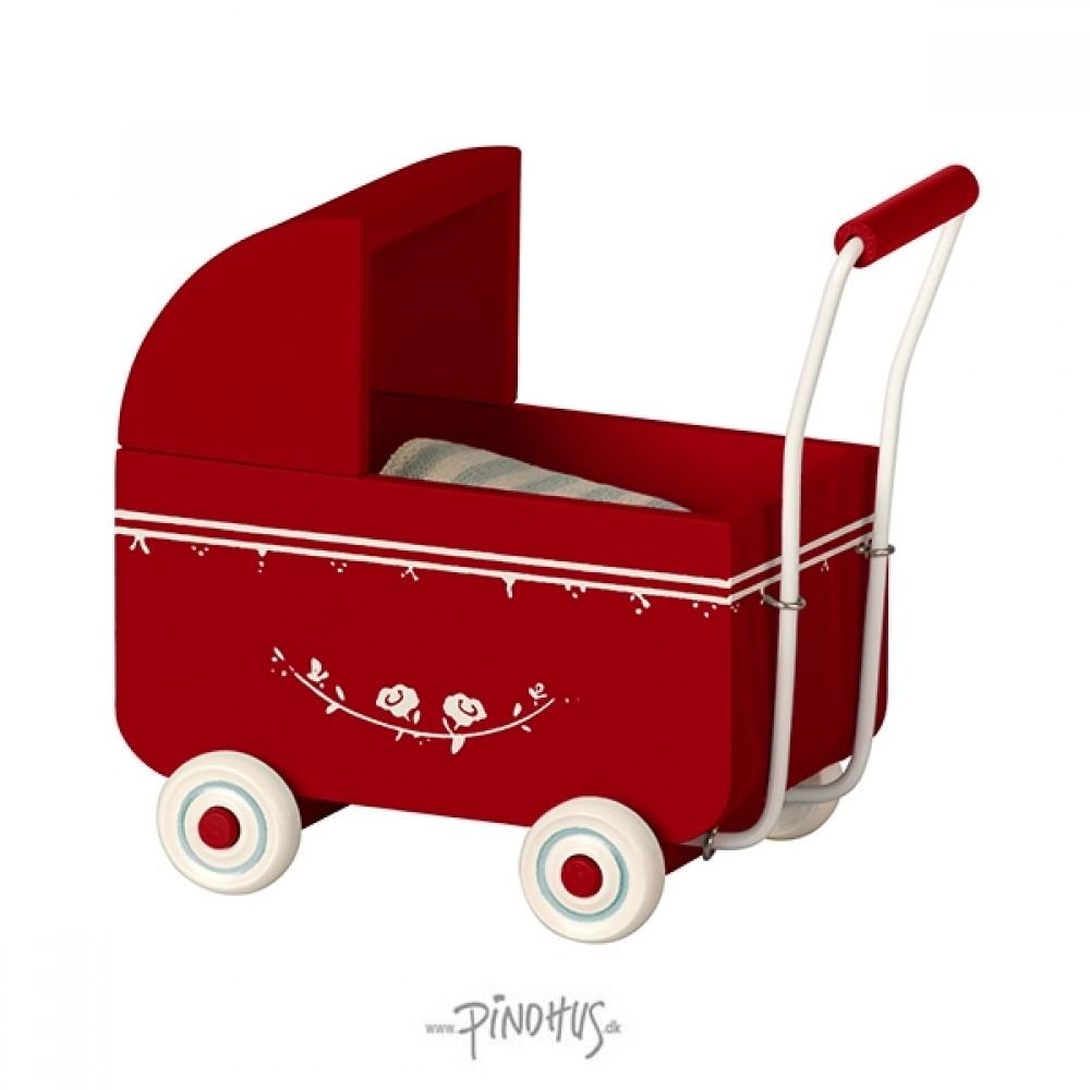 Maileg MY barnevogn rød-31