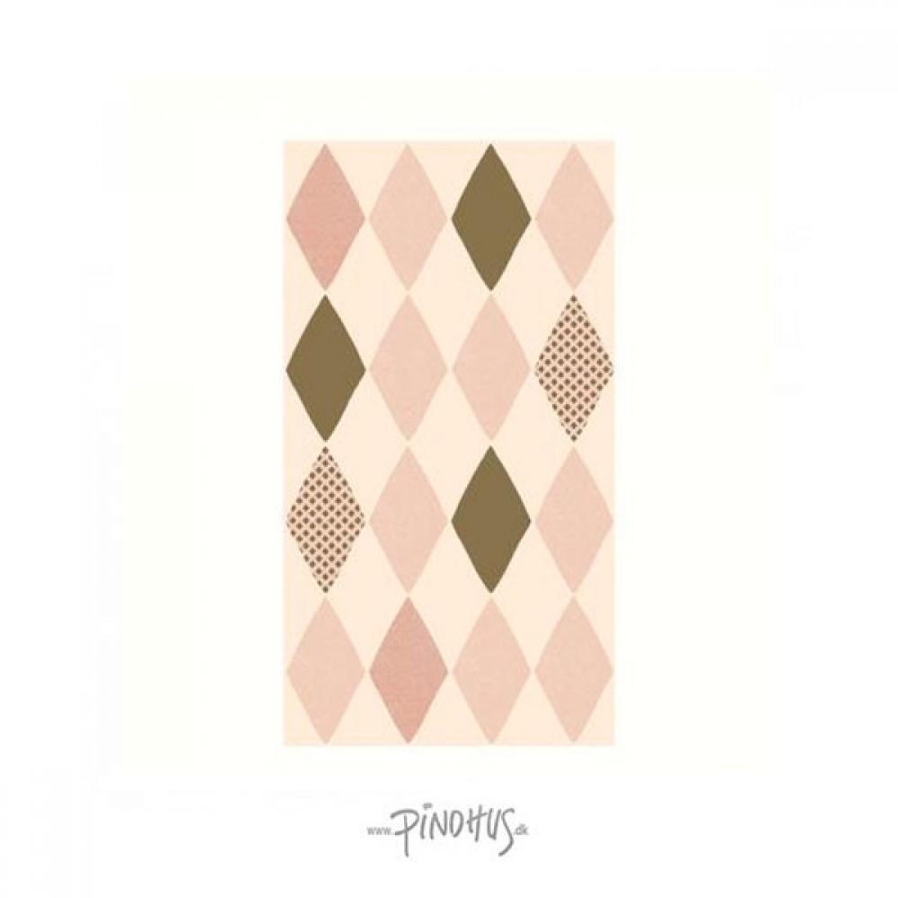 Maileg Harlekin servietter rosa-31