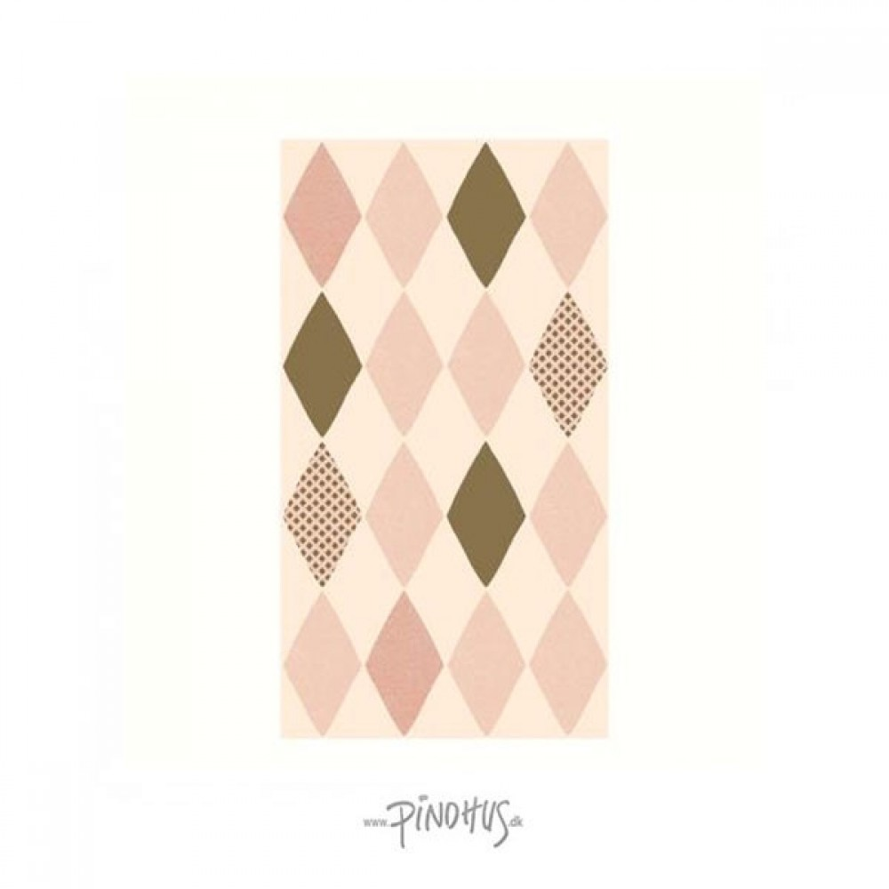 Maileg - Harlekin servietter rosa