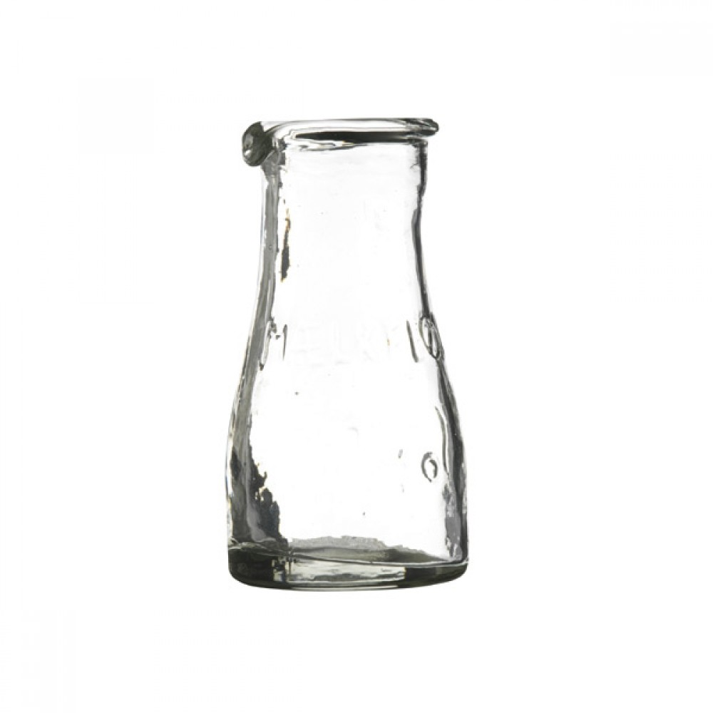 Mælkeflaske i glas 10cm-30