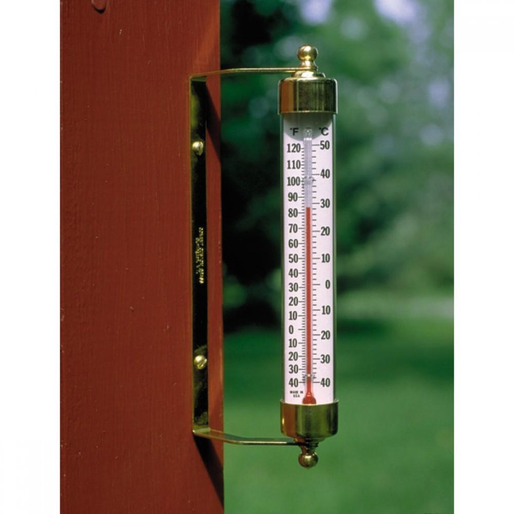 Udendørs termometer - messing