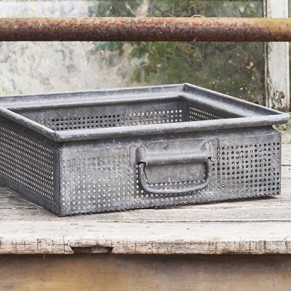 Vintage metalkasse 40x40cm-32