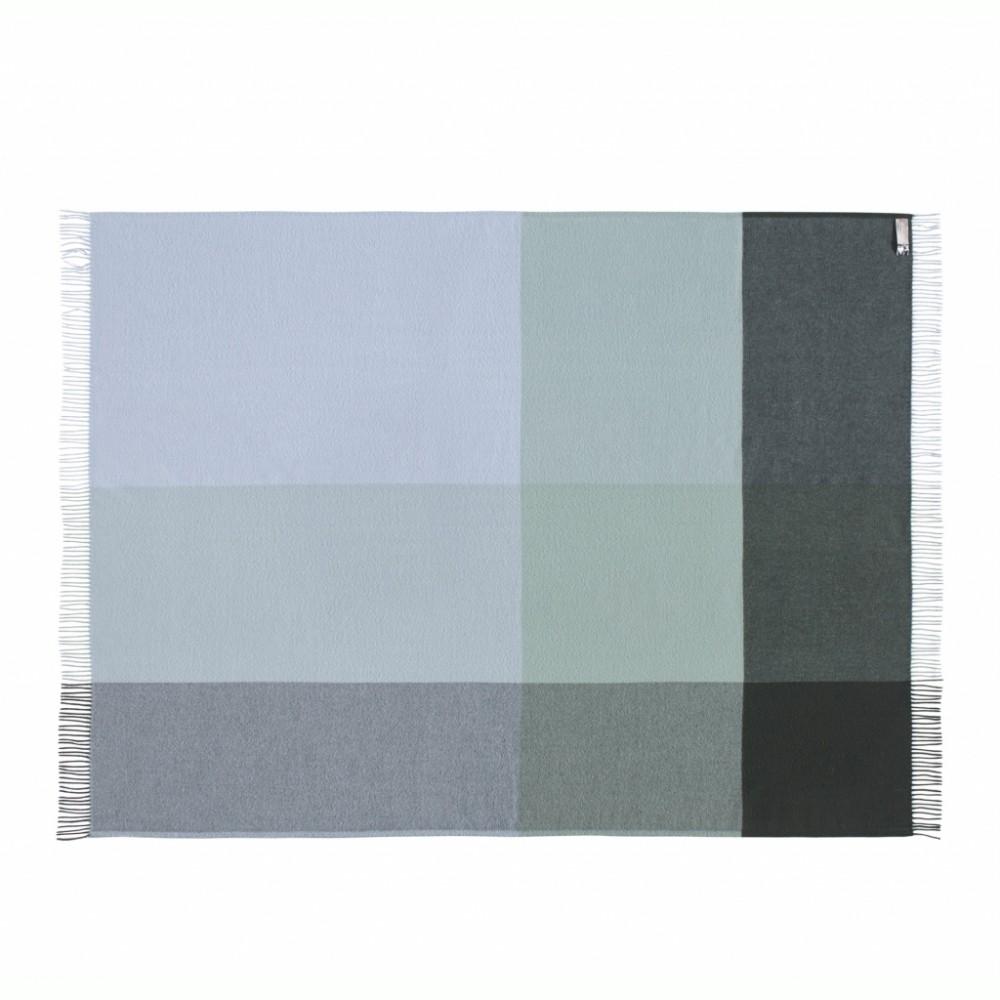 Merino uld plaid Mix farve Aqua-31