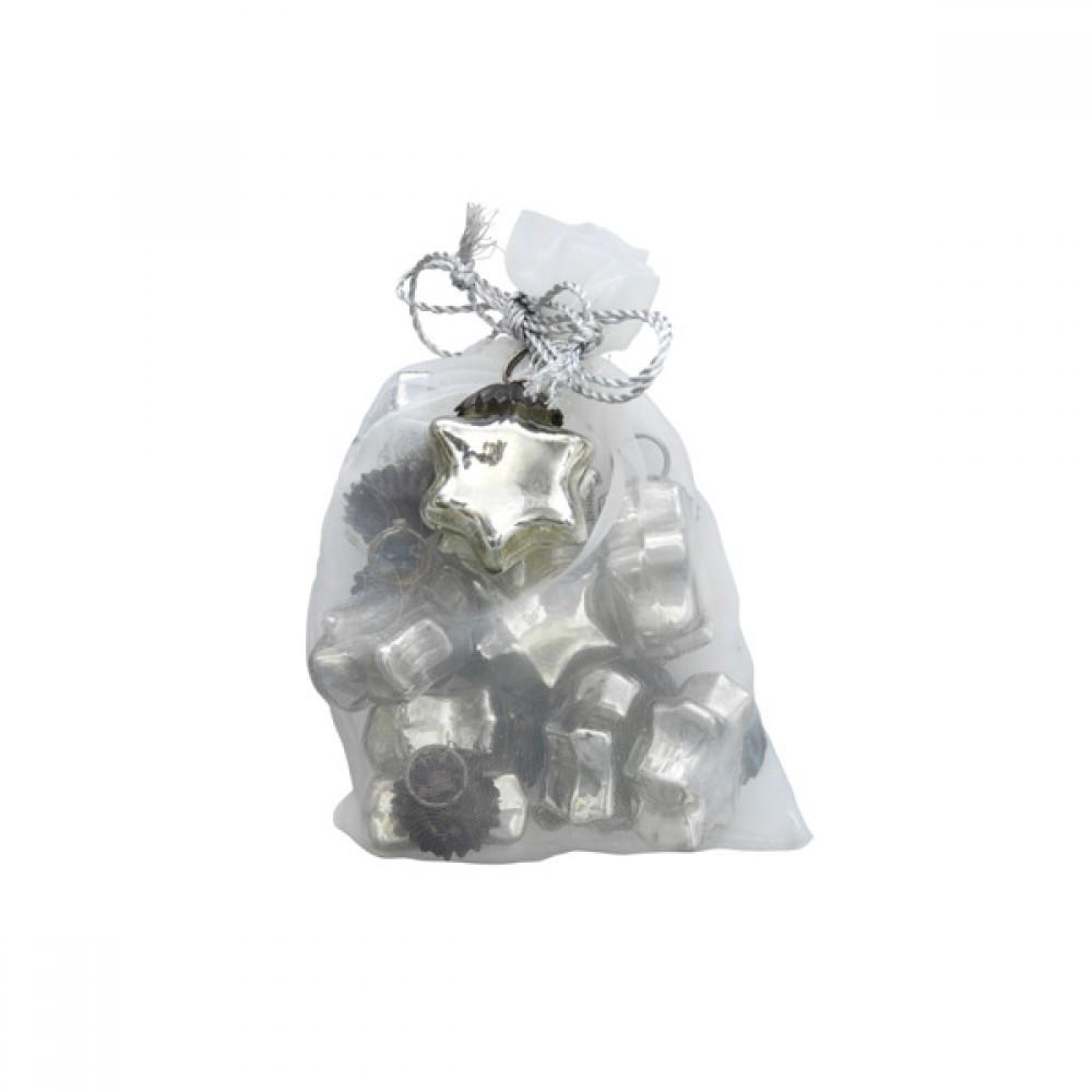 10 stk. Mini glasstjerner