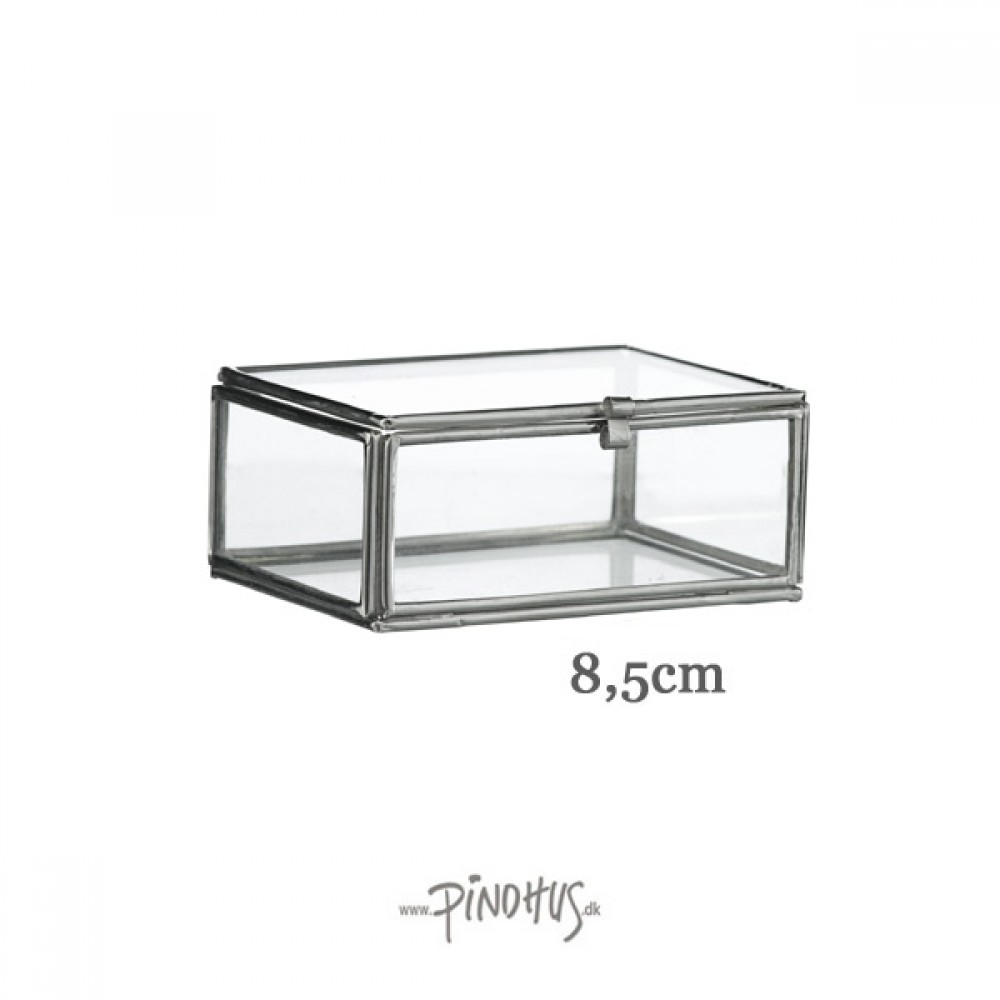 Mini Glasæske Sølv look-30