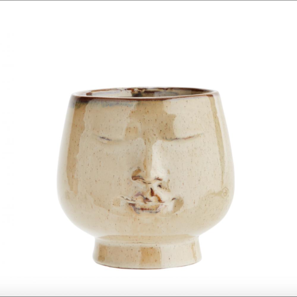Urtepotte keramik face-31