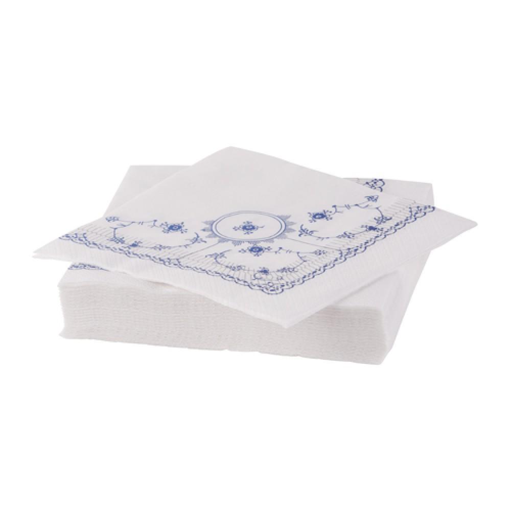 Musselmalet servietter blå-30
