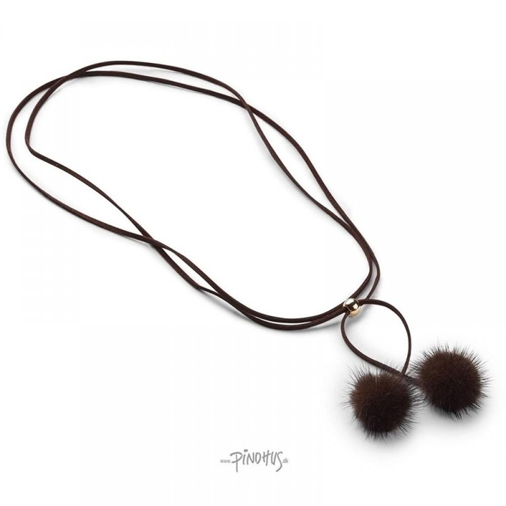 Nicki mink halskæde choko-31