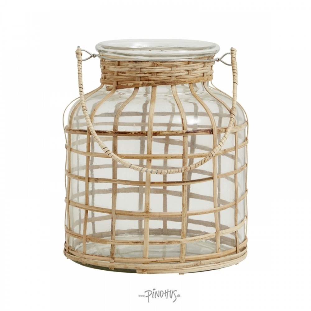 Nordal lanterne Glas m/bambus-32