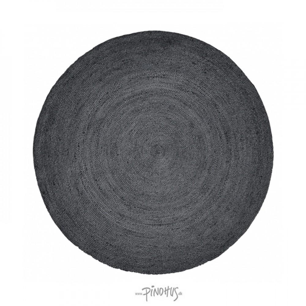 Nordal tæppe sort jute 150cm-31