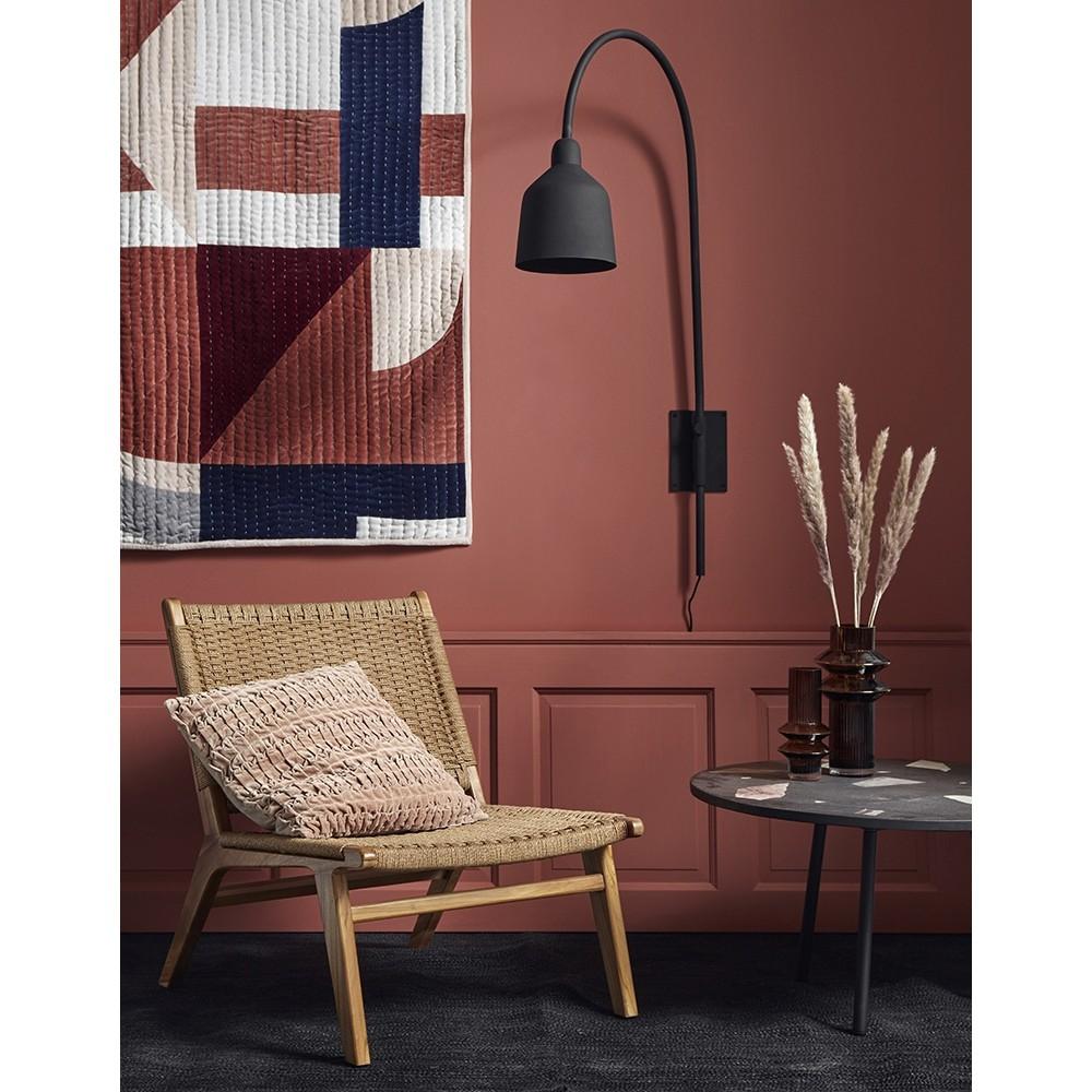 Nordal Club lounge stol Teak m/ flet-31