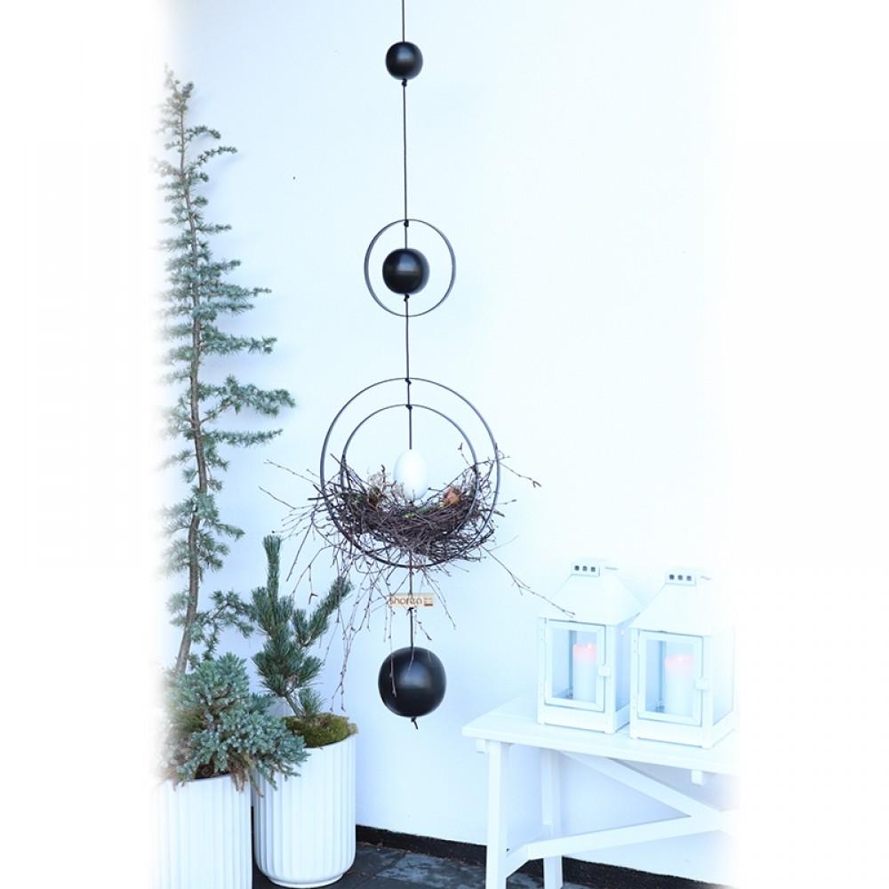 Nordic by hand Hvidt træ æg-31