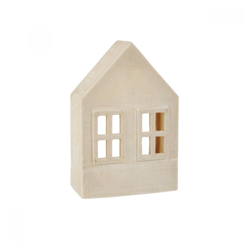 Powder stone hus til fyrfad