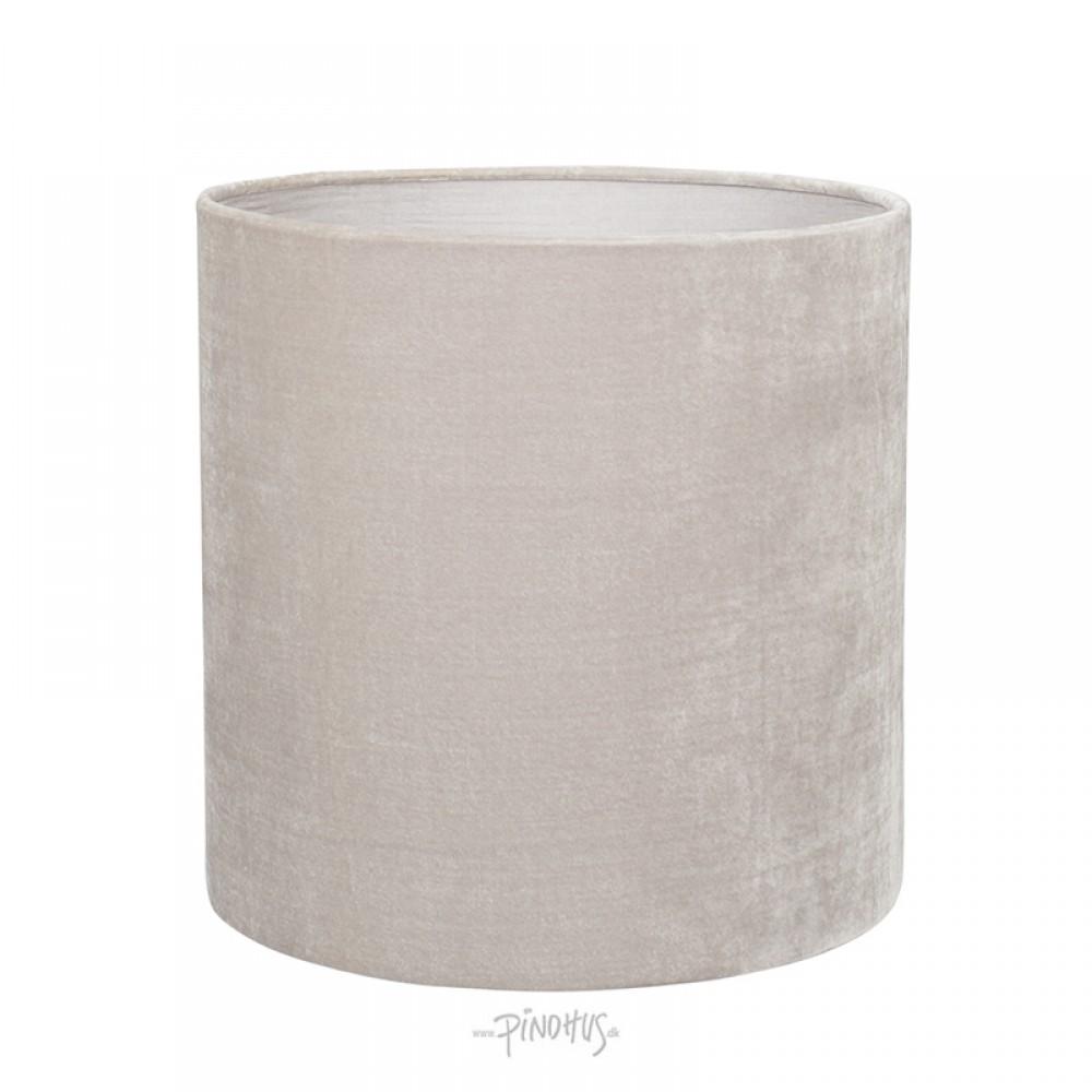 Silk Velour lampeskærm Lys grå-33