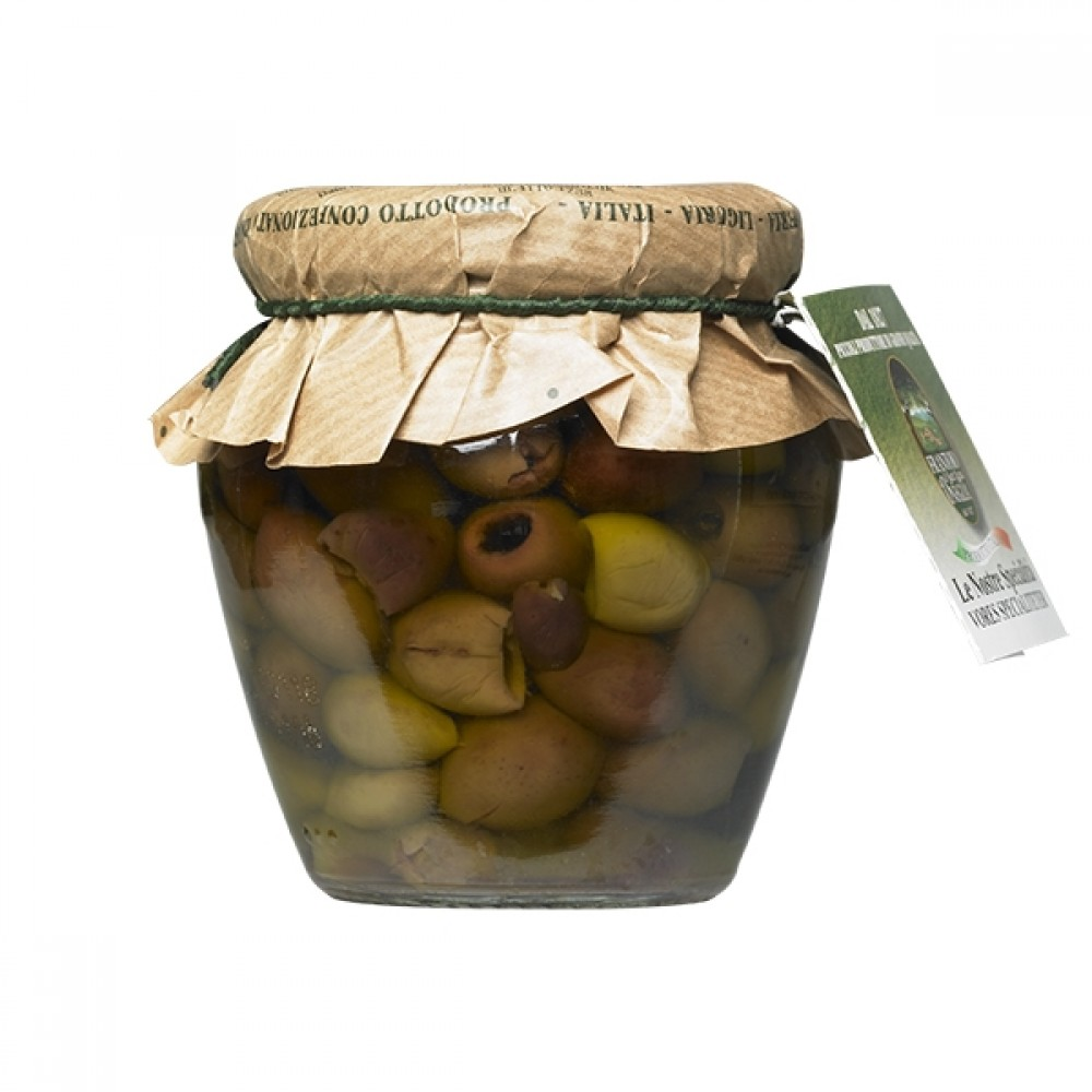 Taggiasca Oliven udstenede 180g.