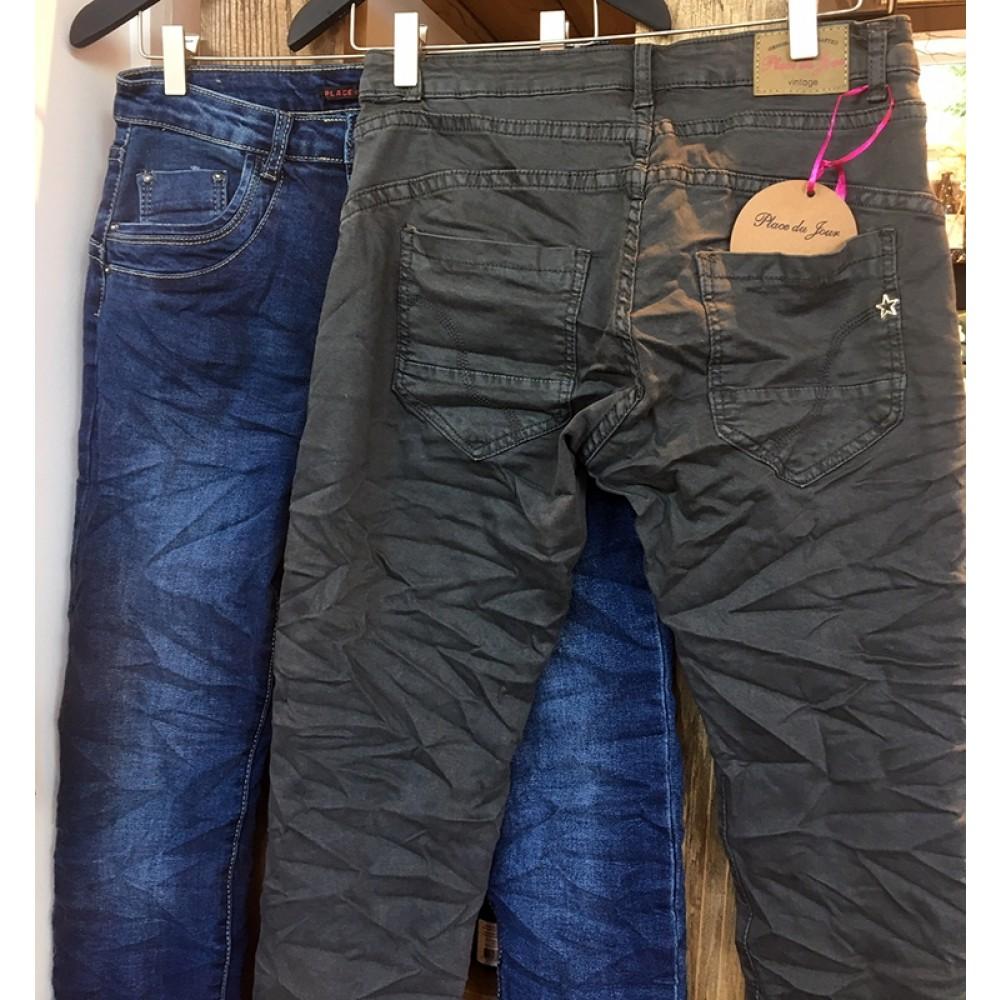 Place du Jour Jeans mørk grå-31