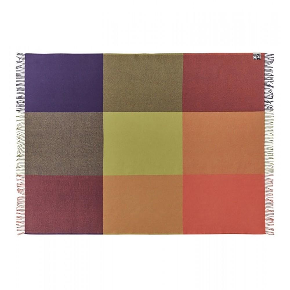 Plaid uld Mix farve orange-31
