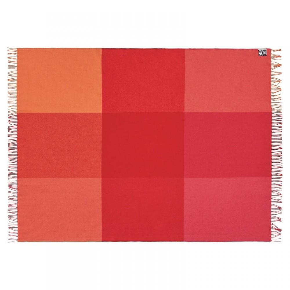 Plaid uld Mix farve rød-30