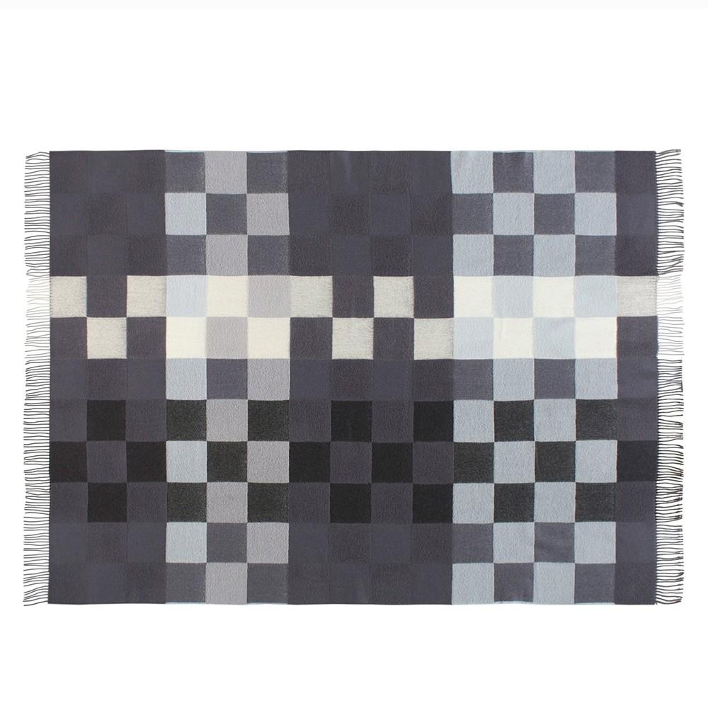 Plain beat uld plaid Blå toner-31