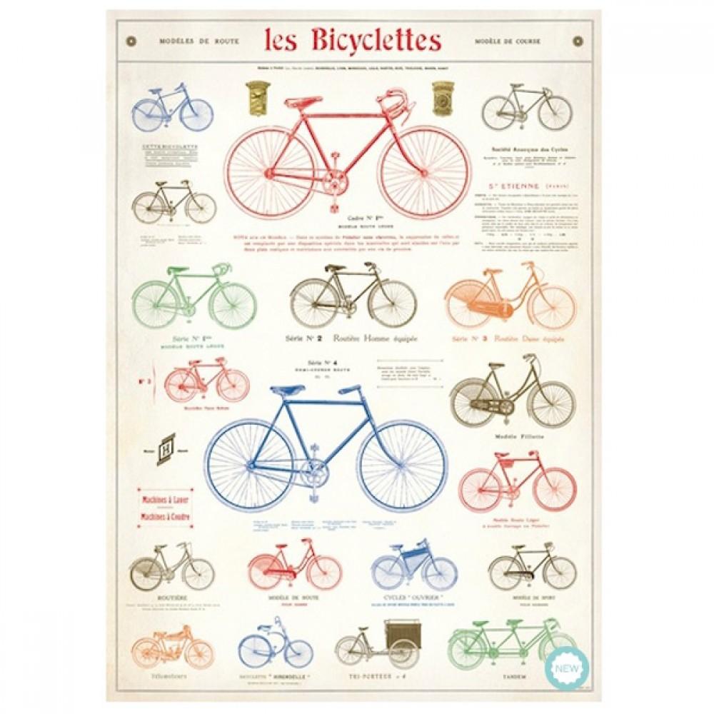 Plakat Le bicyclettes 50x70cm-30
