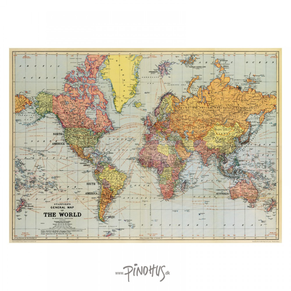 Plakat The World 50x70cm-30