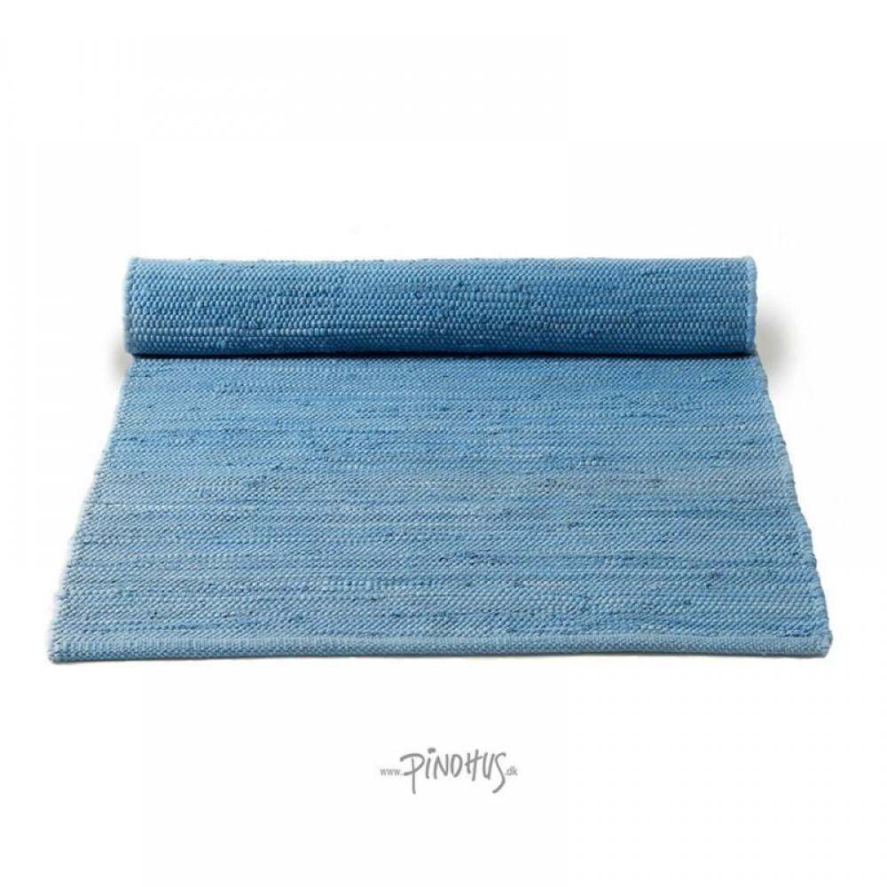Kludetæppe bomuld - Eternity blue