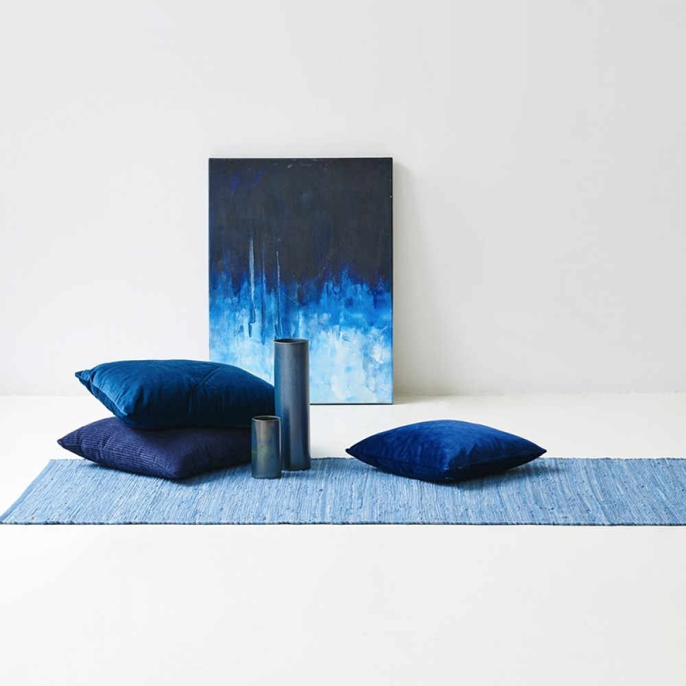 Kludetæppe bomuld Eternity blue-32