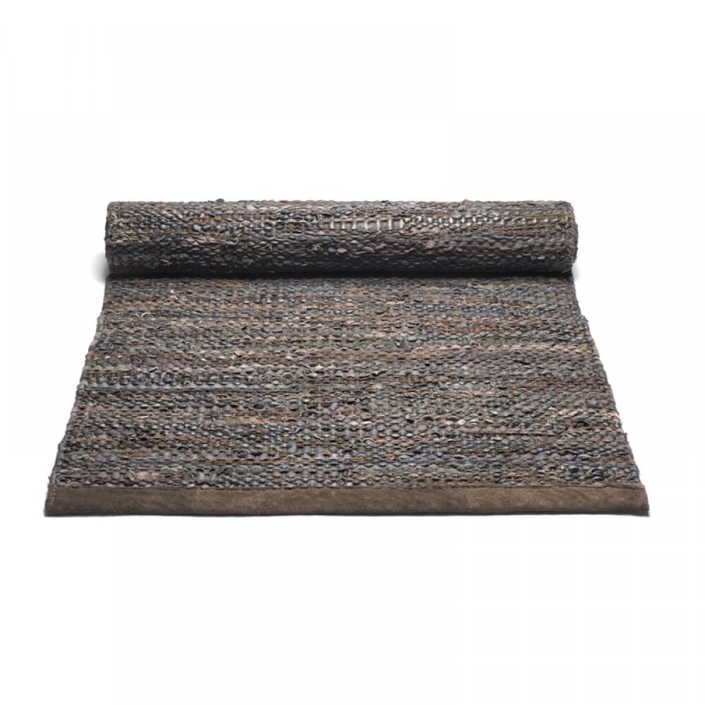 Læder gulvtæppe Brun-30