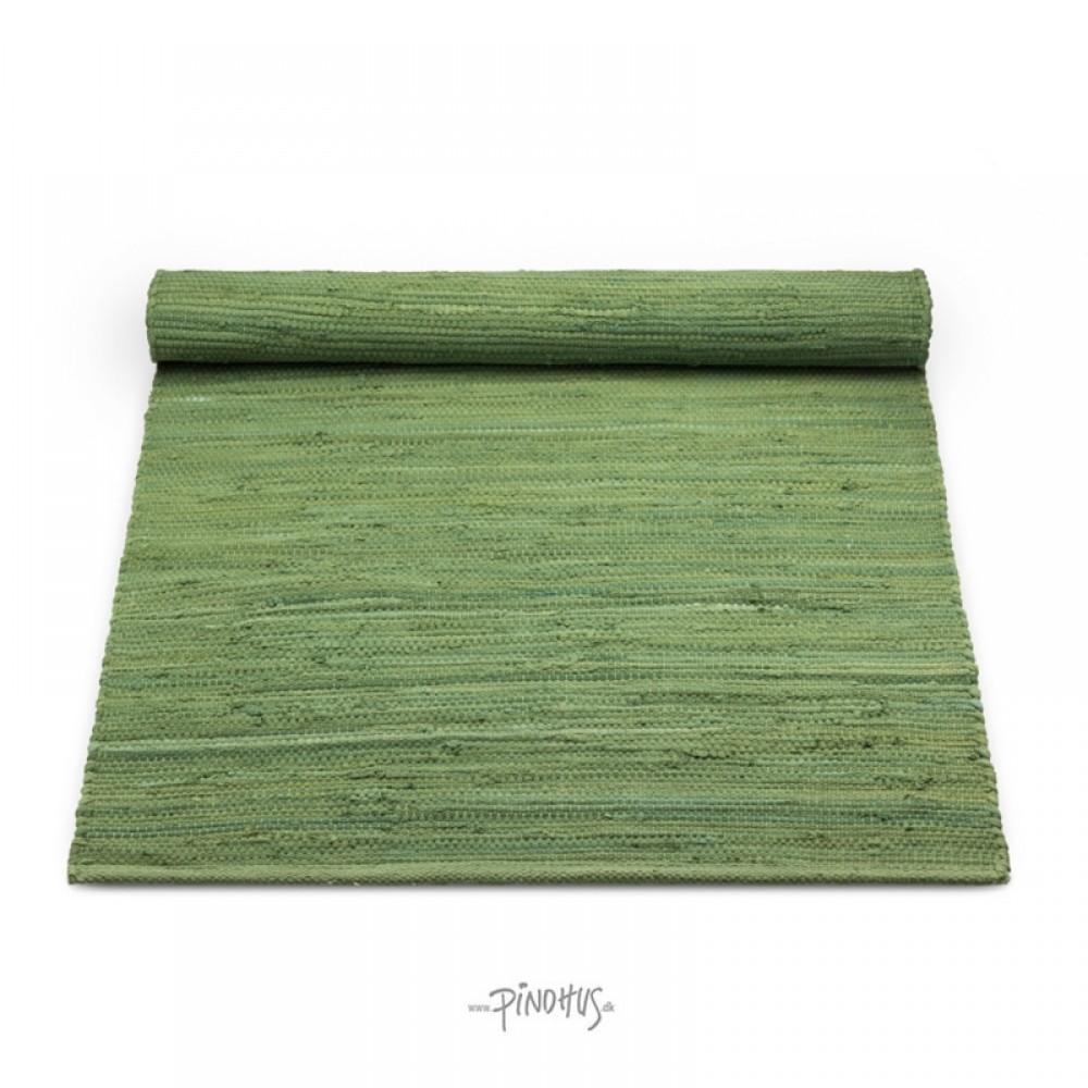 Kludetæppe bomuld Olive green-31