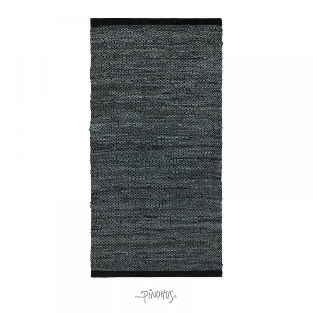 Læder Gulvtæppe Grey contrast-31