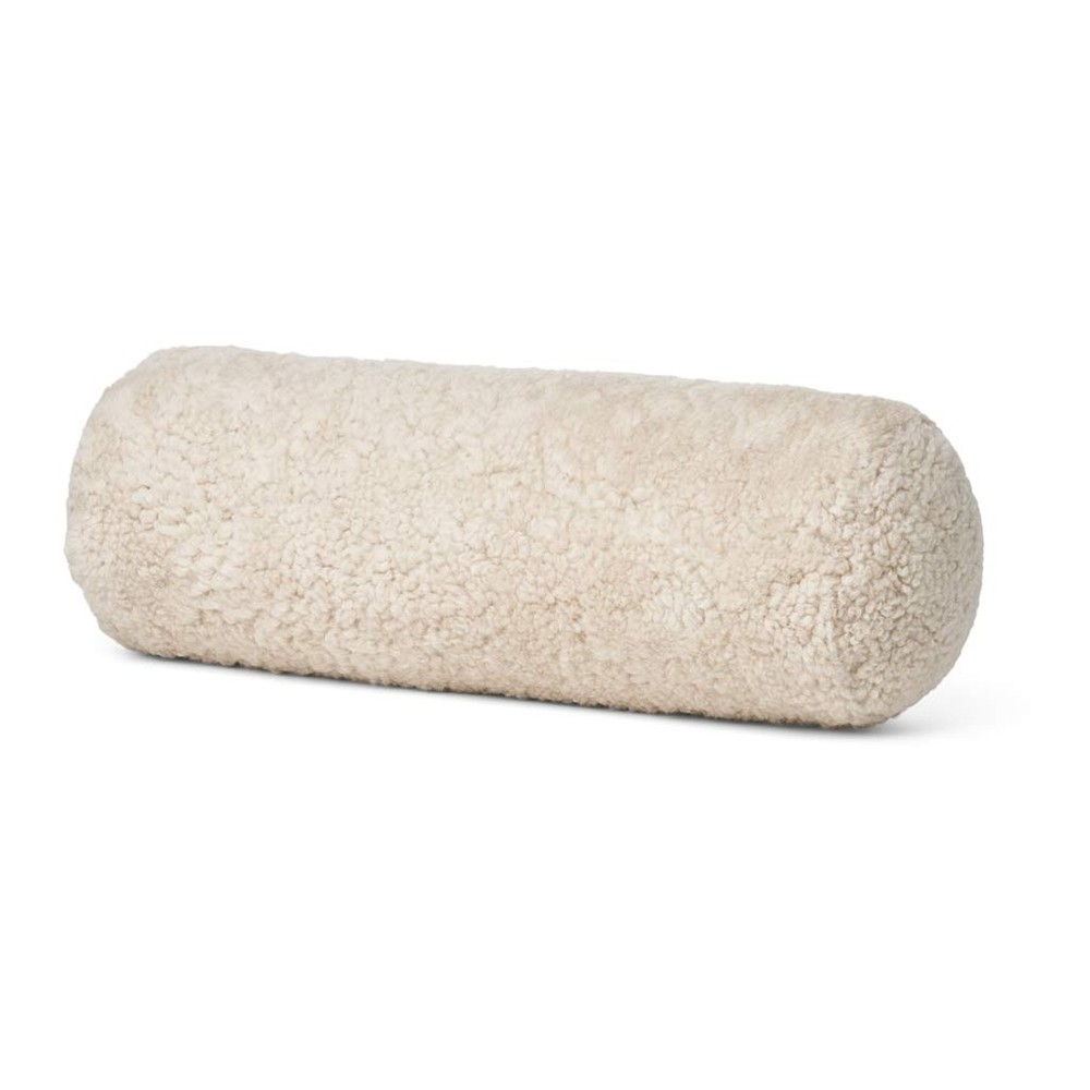 Natures Collection - Bolster lammeskindspude Pearl