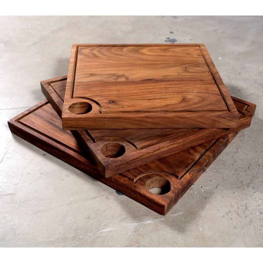 Kvadratisk skærebræt m/kant 35cm-31