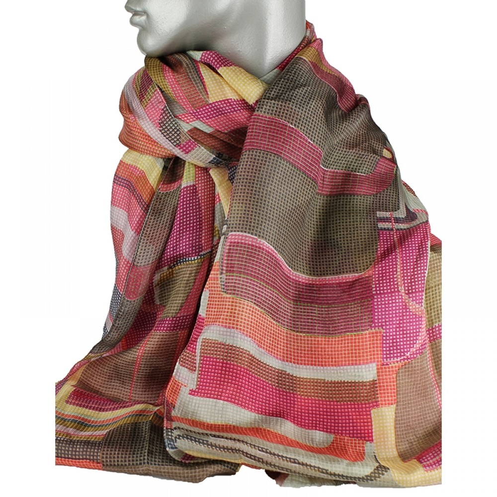 Aperitif silke tørklæde - Pixel